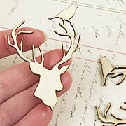 Wood Deer Head Die-Cuts*