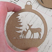 Deer in Woods Ornament Layers