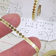 3mm Tape - Gold Harlequin Diamonds*