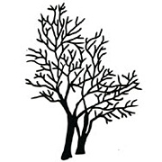 Black Die-Cut Bare Trees*