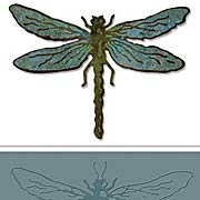 Layered Dragonfly Die & Embossing Folder Set