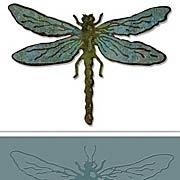 Layered Dragonfly Die & Embossing Folder Set
