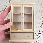 Unfinished Display Cabinet with 1 Drawer