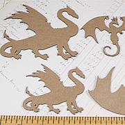 Dragons Die-Cut Chipboard Set*