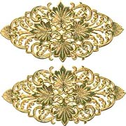 Fancy Oval Dresden Flourishes - Antique Gold