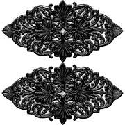Fancy Oval Dresden Flourishes - Black