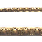 Embossed Brass Trim - Narrow Egg & Dart
