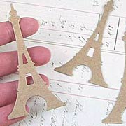 Eiffel Tower Die-Cut Chipboard*