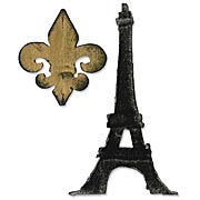 Tim Holtz - Fleur de Lis and Eiffel Tower Die