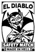 El Diablo Matchbox Label