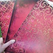 Elegant Autumn Red Gold Scrapbook Paper Set
