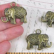 3cm Tall Bronze Elephant Charms*