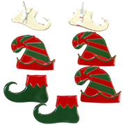 Elf Hats & Shoes Metal Brads