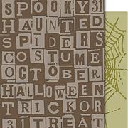 Tim Holtz - Embossing Folders - Halloween Words & Cobwebs