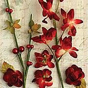 Botanica Floral Ephemera Picks - Red