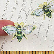 Foliage Bees Epoxy Stickers