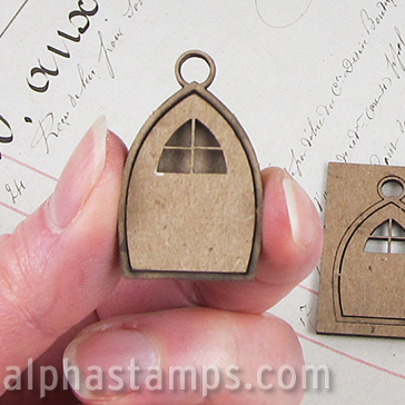 Chipboard Fairy Door Charm - Set of 2 : door charm - Pezcame.Com