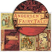 Fairy Tale Book Covers Collage Sheet