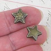 Bronze Slider Beads - Fancy Stars*