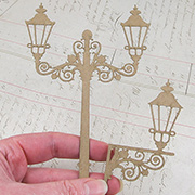 Fancy Lamp Post & Sconce Set