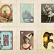 Carnival Faux Postage Stamp Stickers*