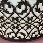 Die-Cut Black Wrought Iron Fence Wraps*