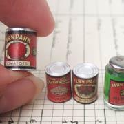 Fern Park Vintage Canned Food Set
