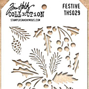 Tim Holtz Stencil - Festive