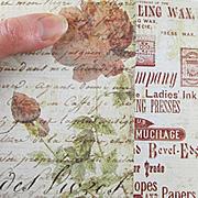 Stationers Desk Fine Print Scrapbook Paper