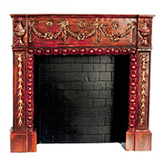 Victorian Fireplace - Rosewood
