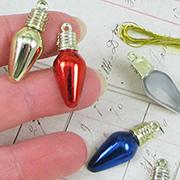 Metallic Flat Back Christmas Bulb Ornaments