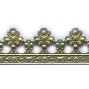 Embossed Brass Trim - Fleur De Lis