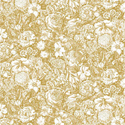 Jolie Gold Floral Scrapbook Paper