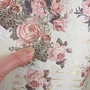 Vintage Floral Scrapbook Paper - Pink Promises