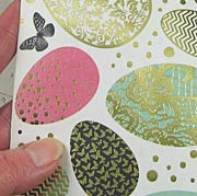 All that Glitters Foiled Scrapbook Paper - Golden Easter Eggs