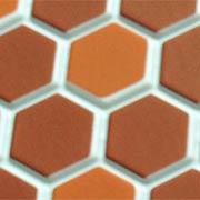 Dark Terra Cotta Hexagon Tile Flooring