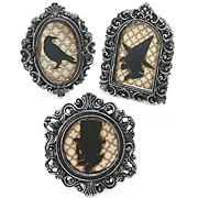 Black Resin Gothic Halloween Frame Set