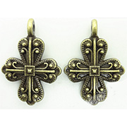 French Bronze Cross Pendant*