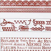 French Words, Lace & Stitches Embossing Folder Set