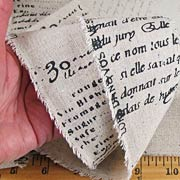 Printed Burlap Ribbon - French Script