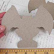 Gargoyle Front View Die-Cut Chipboard**