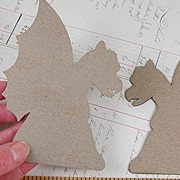 Gargoyle Side View Die-Cut Chipboard**