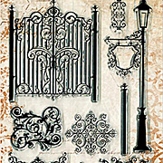 Gateway Wrought Iron Fence Clear Stamp Set