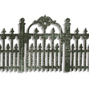 Tim Holtz Decorative Strip Die - Ironwork Gate