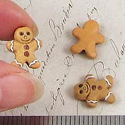 Ceramic Gingerbread Man Cookie Beads