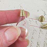 Glass Teardrop Bulb Pendant or Ornament*