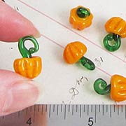Glass Pumpkin Charms