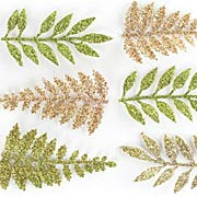 Glittered Fern Leaves*