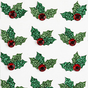 Jolee Glittered Christmas Holly Stickers*