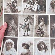 Warm Clothes from Grandma&#39s Attic Ephemera Sheet